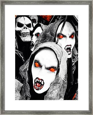 Scary Red Framed Print by Loretta Cassiano