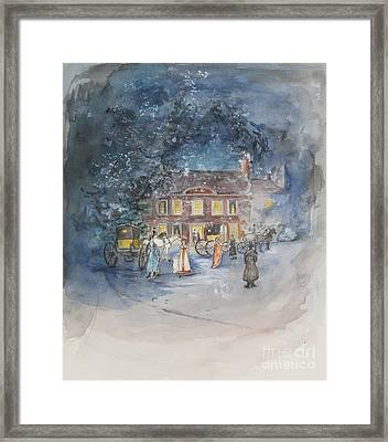 Scene From Jane Austens Emma Framed Print by Caroline Hervey Bathurst