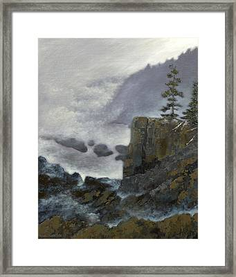 Scene From Quoddy Trail Framed Print by Alison Barrett Kent