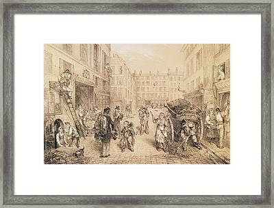 Scenes And Morals Of Paris, From Paris Qui Seveille, Printed By Lemercier, Paris Litho Framed Print by French School