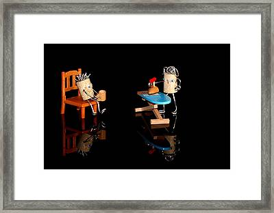 Marriage Proposal Framed Print featuring the photograph Scenes From A Marriage by Heike Hultsch