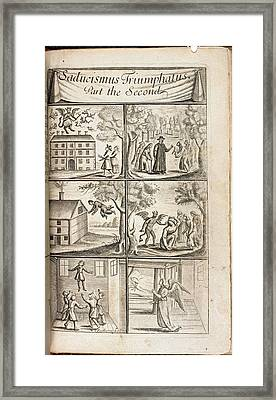 Scenes Of Levitation Framed Print by British Library