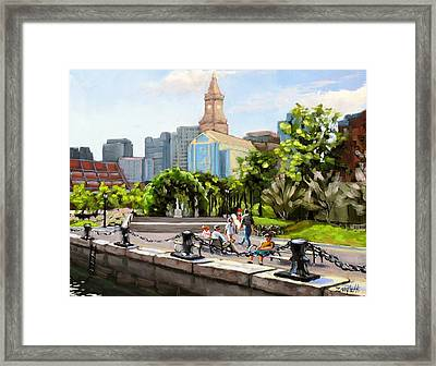 Scenic Boston Framed Print by Laura Lee Zanghetti