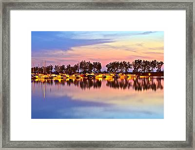 Scenic Sunset Framed Print by Frozen in Time Fine Art Photography