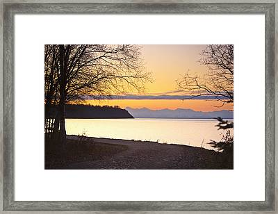 Scenic View Of Cook Inlet Along The Framed Print by Kevin Smith