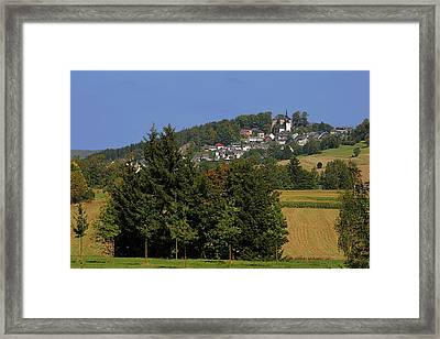 Schauenstein - A Typical Upper-franconian Town Framed Print by Christine Till