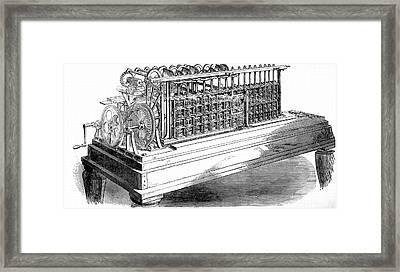 Scheutz's Calculating Machine Framed Print by Universal History Archive/uig