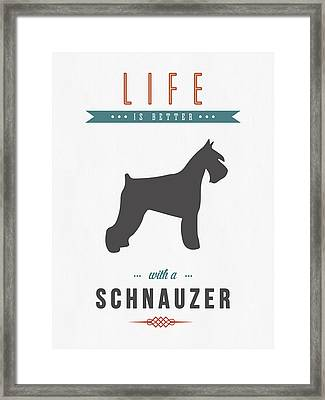 Schnauzer 01 Framed Print by Aged Pixel