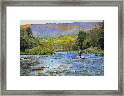 Schoharie Creek Framed Print by Kenneth Young