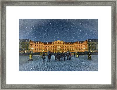 Schonbrunn Christmas Market Framed Print by Joan Carroll