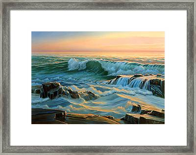 Schoodic Point Before Sunrise  Framed Print by Paul Krapf
