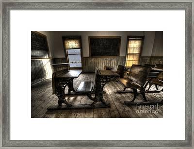 Historic School Bannack Montana 1 Framed Print by Bob Christopher