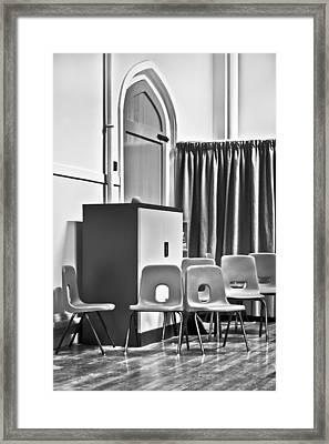 School Chairs Framed Print by Tom Gowanlock