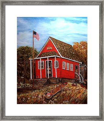 School House Framed Print by Kenneth  LePoidevin