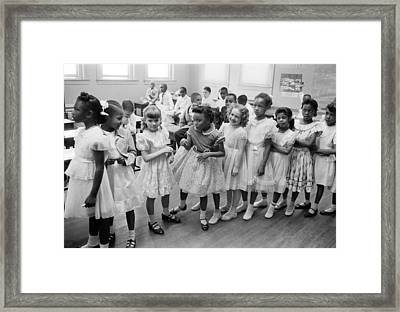 School Integration In 1955 Framed Print by Underwood Archives