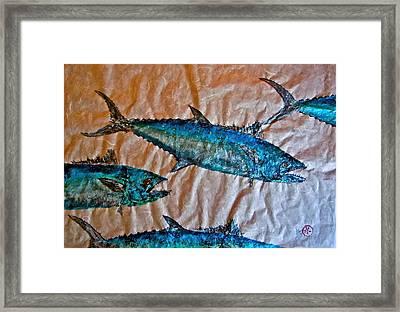 School Of Mackerel - Spanish Invasion Framed Print by Jeffrey Canha