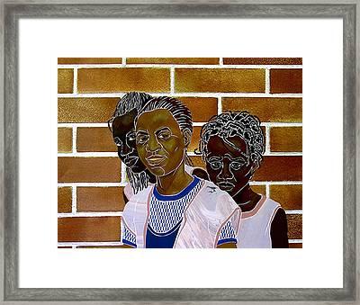 Schoolgirls Framed Print by Martha Rucker