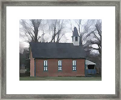Schoolhouse Framed Print by Brenda Conrad