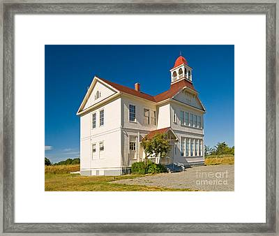 Schoolhouse Framed Print by Richard and Ellen Thane