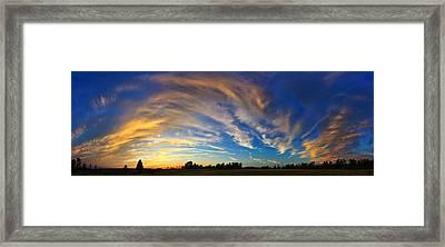 Schoolyard Sunset 1 Panorama Framed Print by Bill Caldwell -        ABeautifulSky Photography