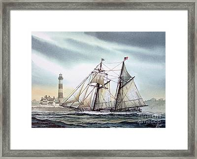 Schooner Light Framed Print by James Williamson