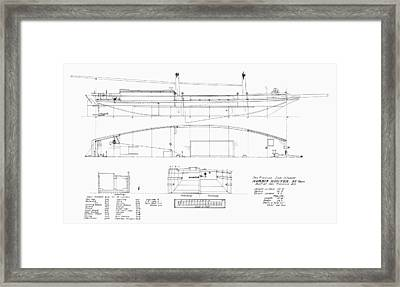 Schooner Plans, 1870 Framed Print by Granger