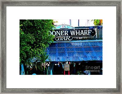 Schooner Wharf Bar In Key West Florida Framed Print by Susanne Van Hulst