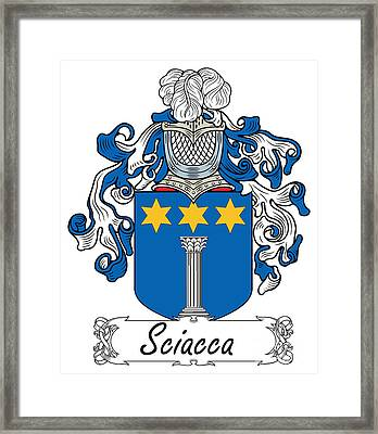 Sciacca Coat Of Arms Di Sicilia Framed Print by Heraldry