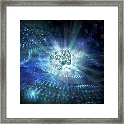 Science And The Human Spirit Framed Print by Harald Ritsch