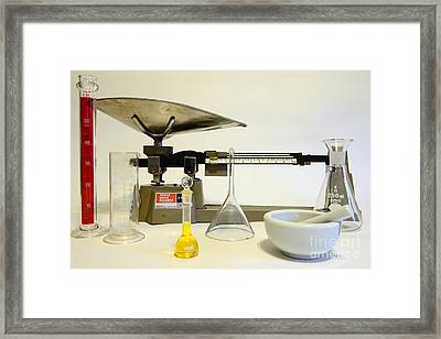 Science Exact Measure Framed Print by Paul Ward