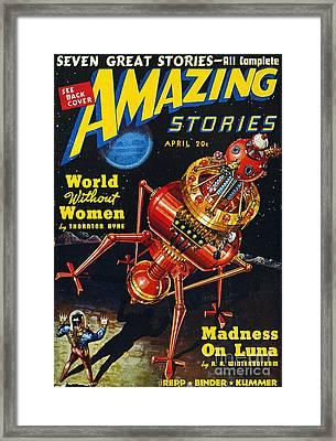 Science Fiction Cover, 1939 Framed Print by Granger