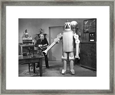 Science Fiction Film Robot Framed Print by Underwood Archives