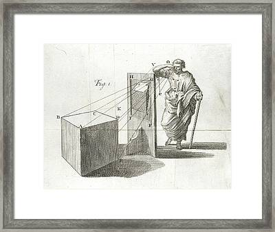Scientific Diagram Framed Print by British Library