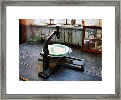 Scientist - Old-fashioned Microscope Framed Print by Susan Savad