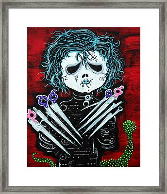 Scissorhands Framed Print by Laura Barbosa