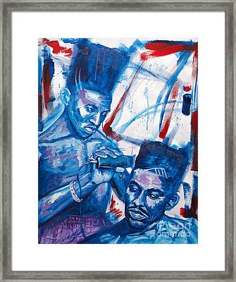 Scoob And Kane Framed Print by Charles Edwards