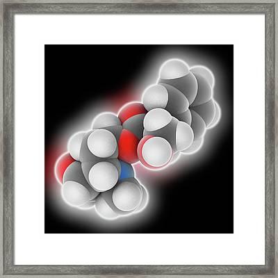 Scopolamine Drug Molecule Framed Print by Laguna Design