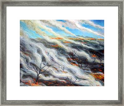Scorched Earth, 2014, Oil On Canvas Framed Print by Tilly Willis
