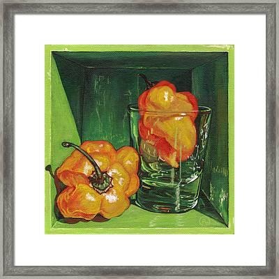 Scotch Bonnet Framed Print by Paige Wallis
