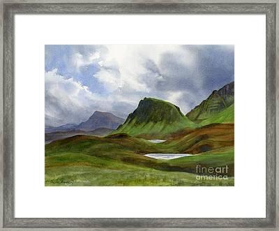 Scotland Highlands Landscape Framed Print by Sharon Freeman