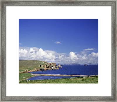 Scotland Shetland Islands Eshaness Cliffs Framed Print by Anonymous
