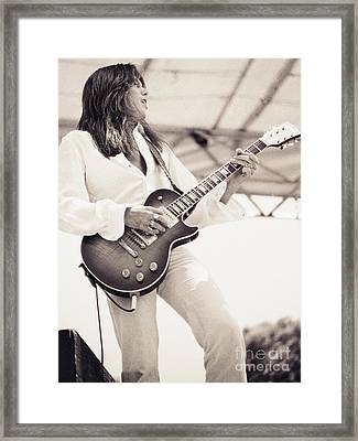 Scott Gorham Of Thin Lizzy Black Rose Tour At Day On The Green 4th Of July 1979 - 1st Unrelease  Framed Print by Daniel Larsen
