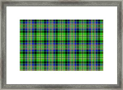 Scott Tartan Variant Framed Print by Gregory Scott