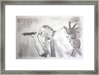 Scott Weiland Framed Print by Charlotte NC Artist Phil Robinson