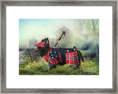 Scottie Of The Glen Framed Print by Trudi Simmonds