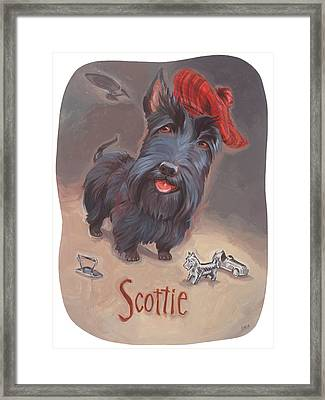 Scottie's Beaming Framed Print by Shawn Shea