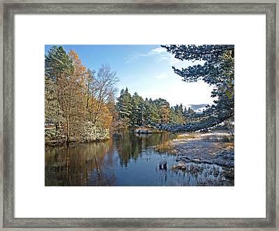 Scottish Loch Near Aviemore Framed Print by Gill Billington