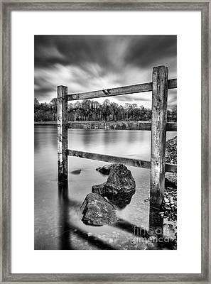 Scottish Loch With Fence Framed Print by John Farnan