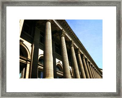 Scottish Rite Building Spokane Washington Framed Print by Michelle Calkins