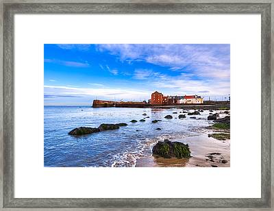 Scottish Seascape At North Berwick Harbor Framed Print by Mark E Tisdale